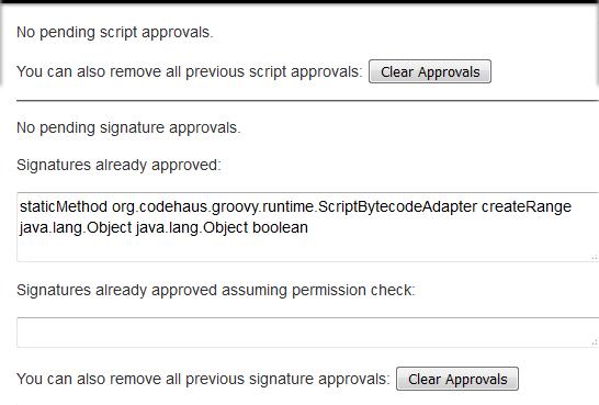 Jenkins Script Security Plugin