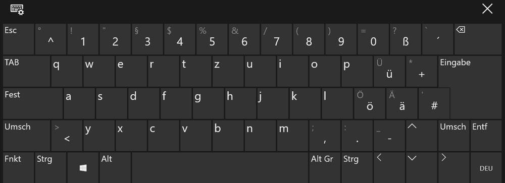 Komplette Tastatur